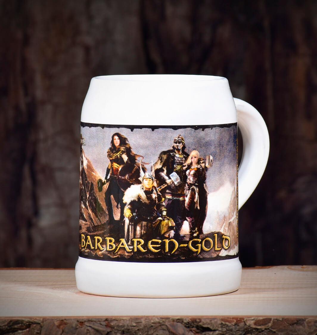 Bierkrug Barbarengold