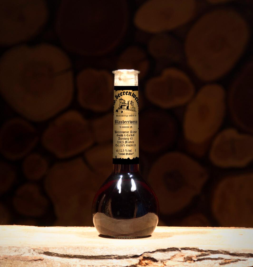 Blaubeerwein 0,2 Liter Elixierflasche