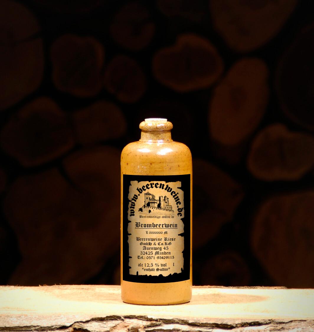 Brombeerwein 0,2 Liter Tonflasche