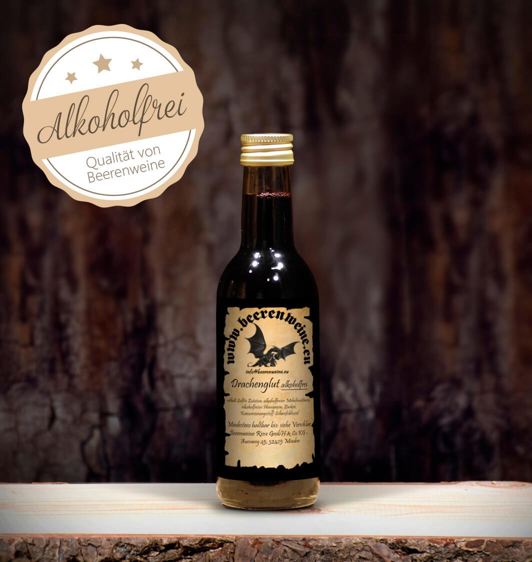 Drachenglut Alkoholfrei 0,25 Liter Bordeauxflasche