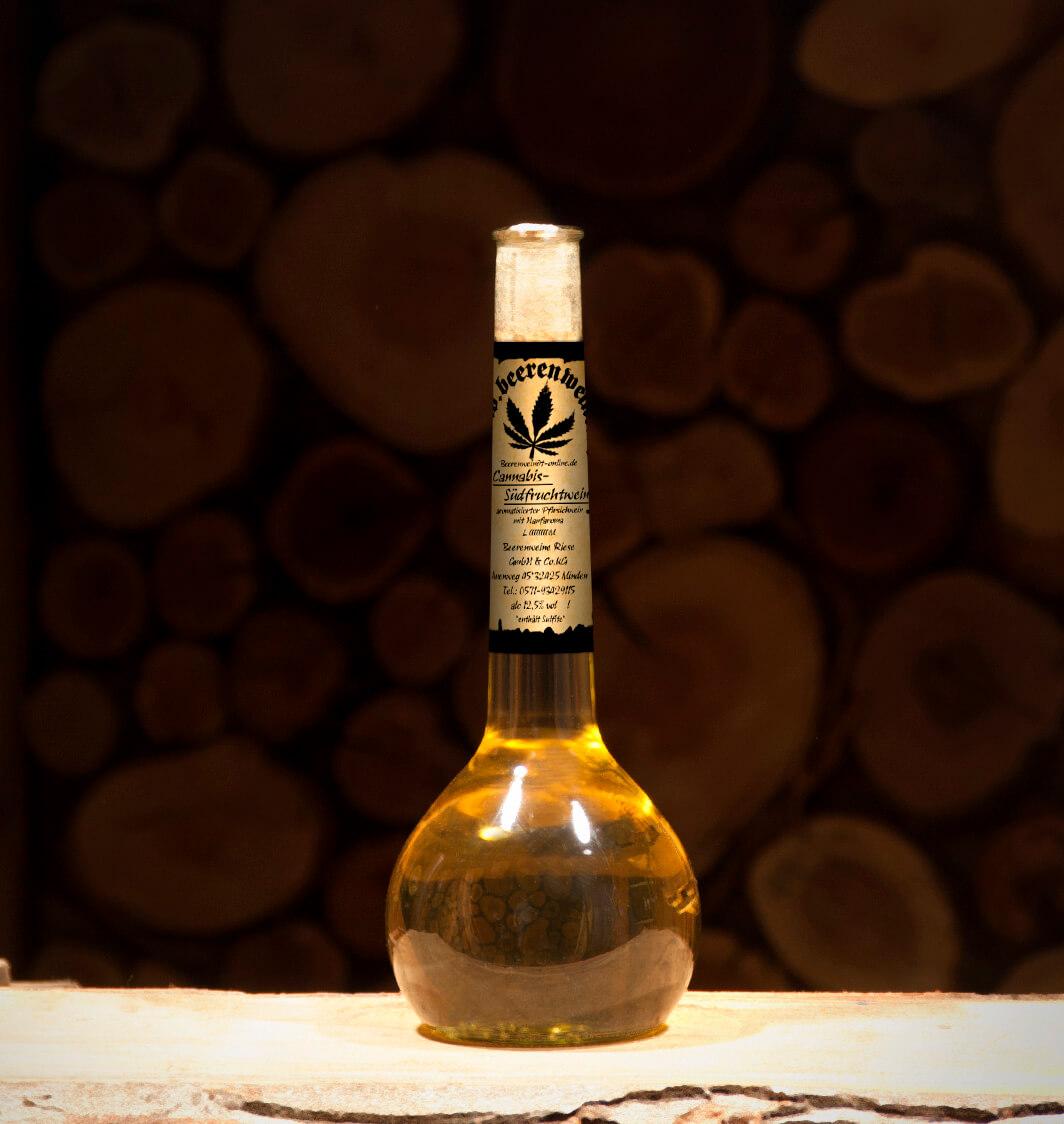 Hanf-Südfruchtwein 0,5 Liter Elixierflasche