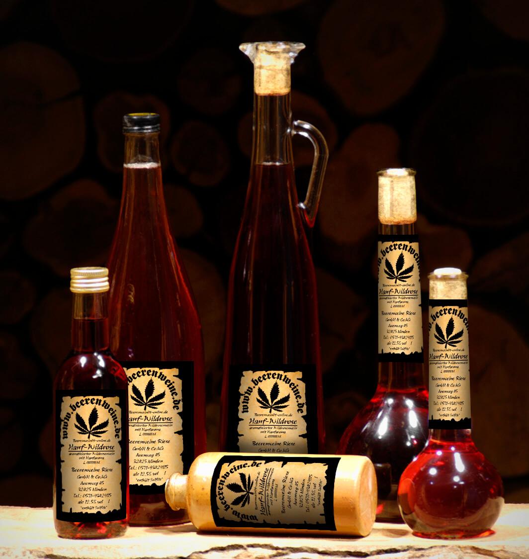 Hanf-Wildrosenwein