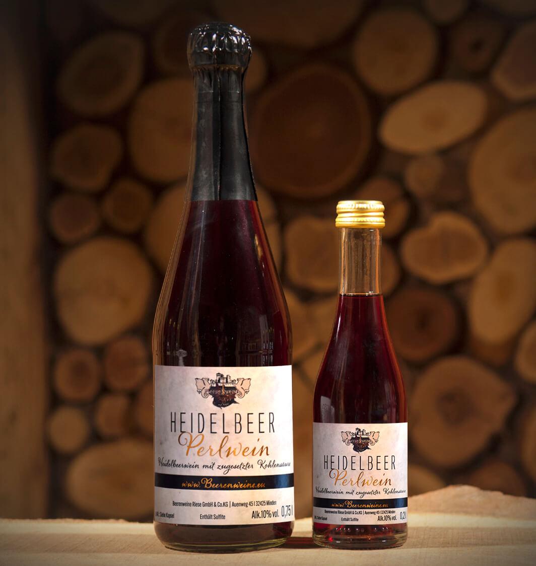 Heidelbeer-Perlwein