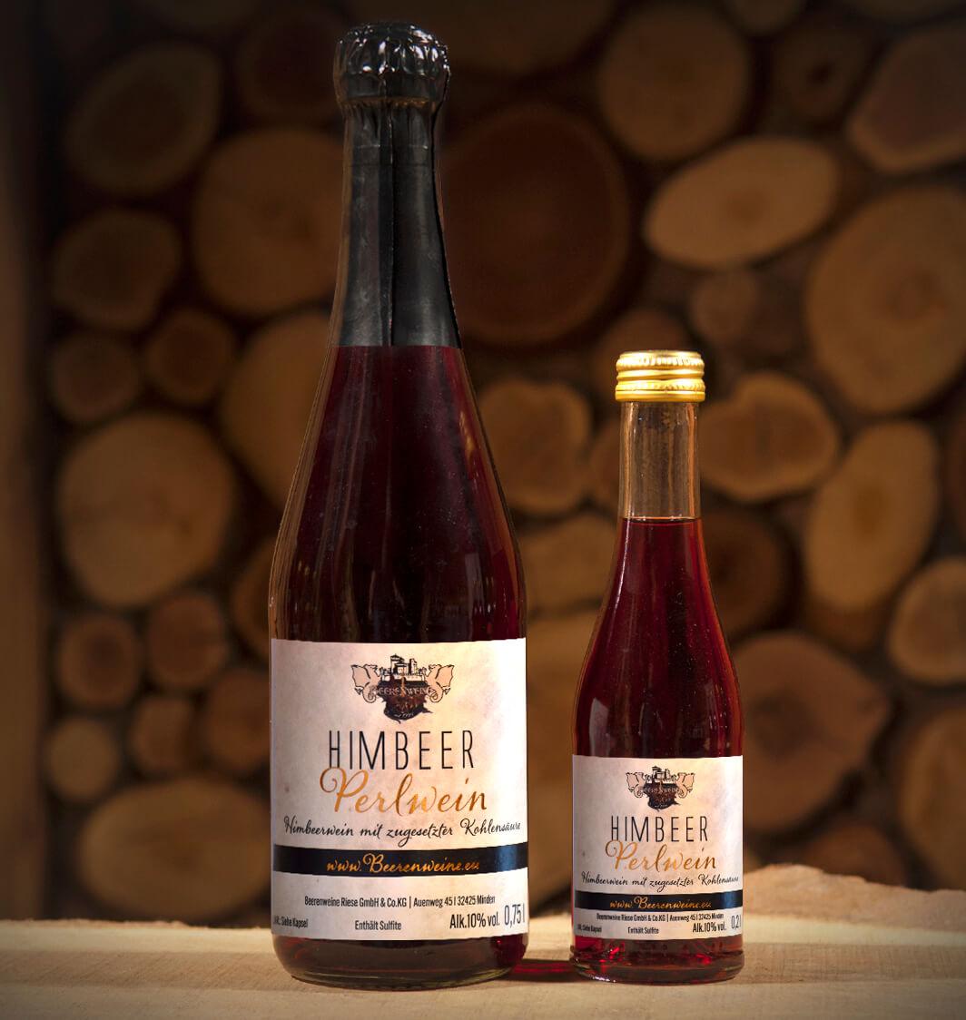 Himbeer-Perlwein