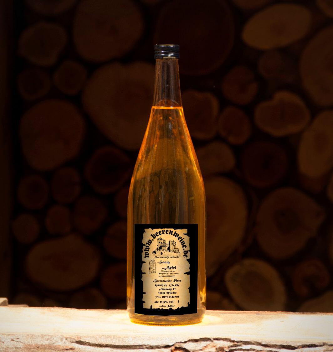 Honig-Apfel 1,0 Liter Euroflasche
