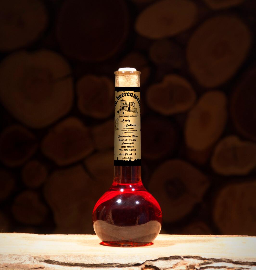 Honig-Erdbeer 0,2 Liter Elixierflasche