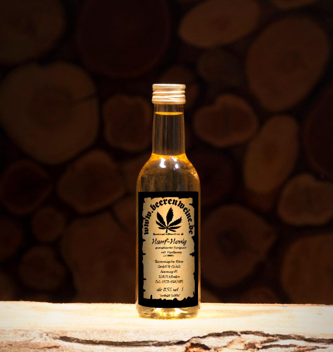 Honig-Hanf 0,25 Liter Bordeauxflasche