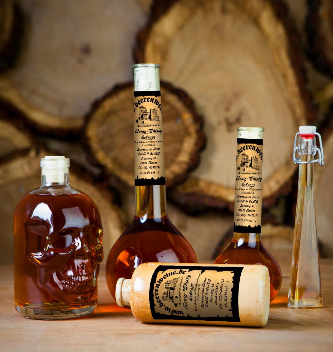 Honig-Whisky Schnaps