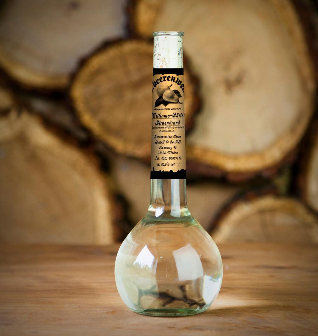 Honig-Willi Schnaps 0,5 Liter Elixierflasche