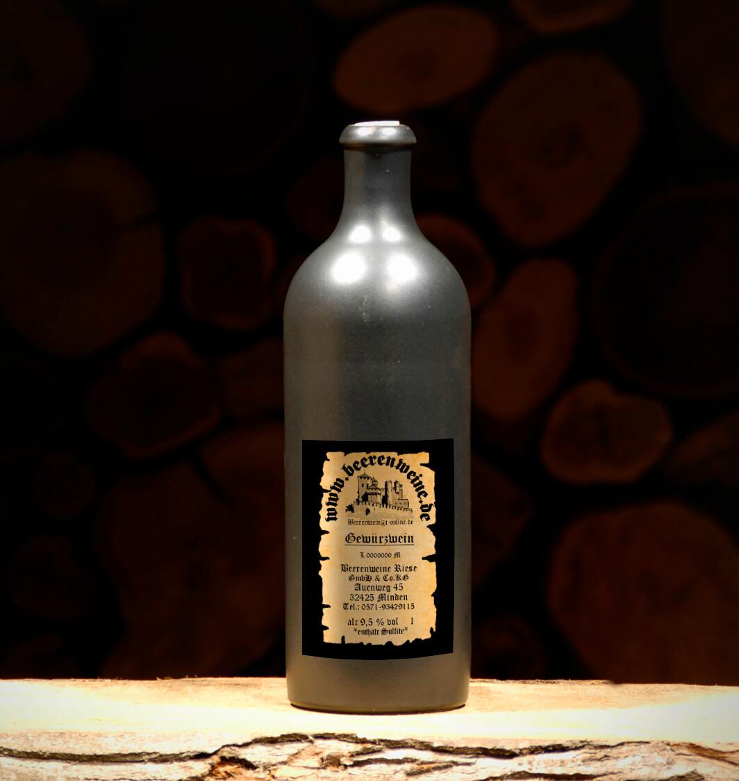 Hypocras 0,75 Liter Tonflasche schwarz