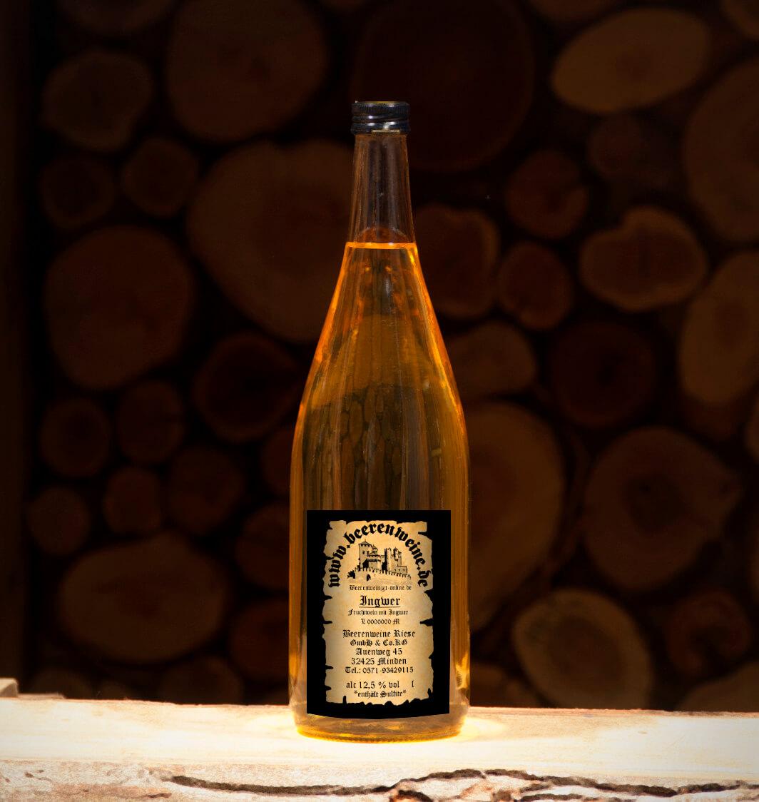 Ingwerwein 1,0 Liter Euroflasche
