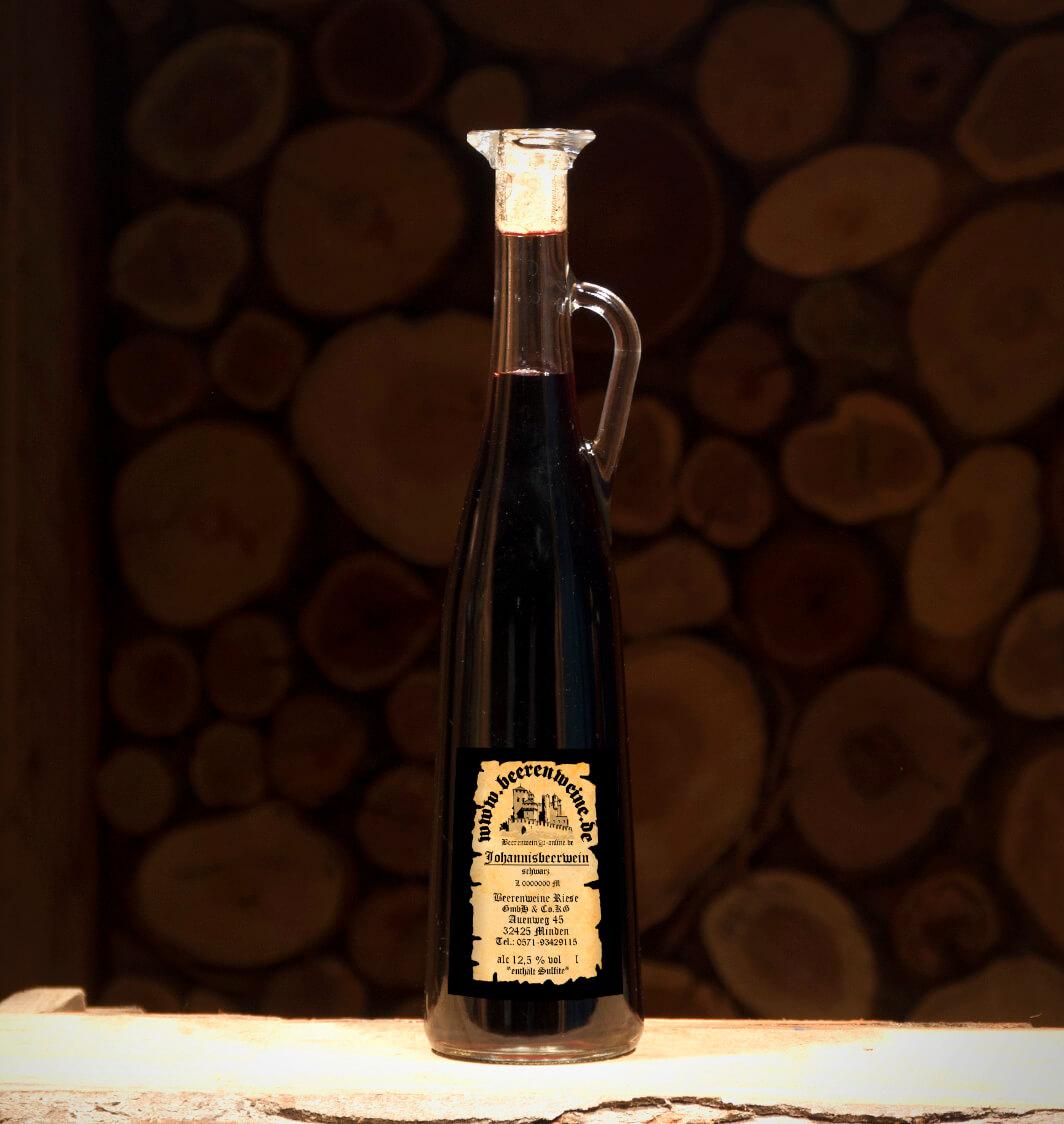 Johannisbeerwein schwarz 0,75 Liter Amphore