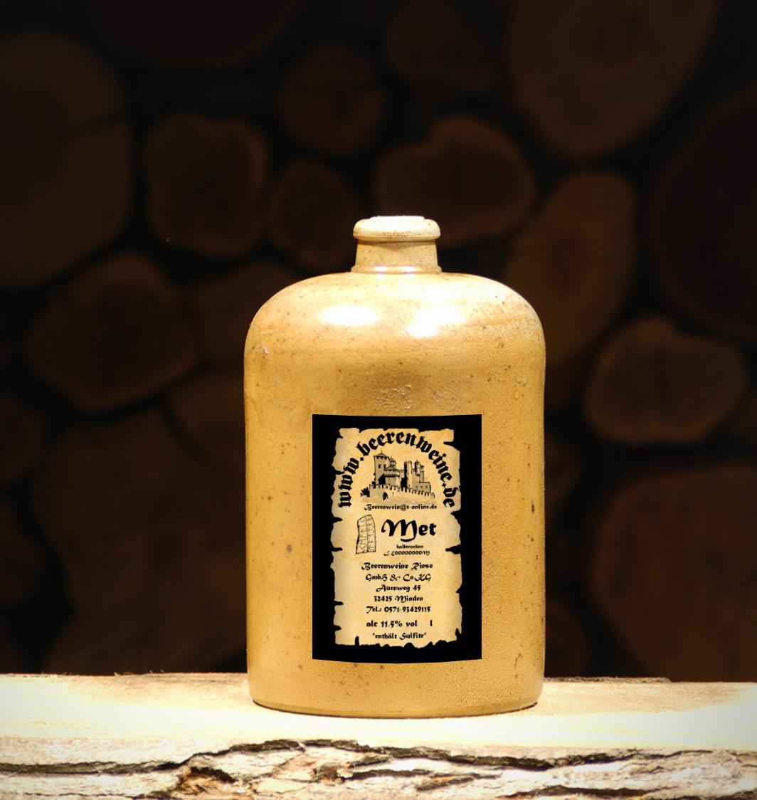 Met halbtrocken 1,0 Liter Tonflasche
