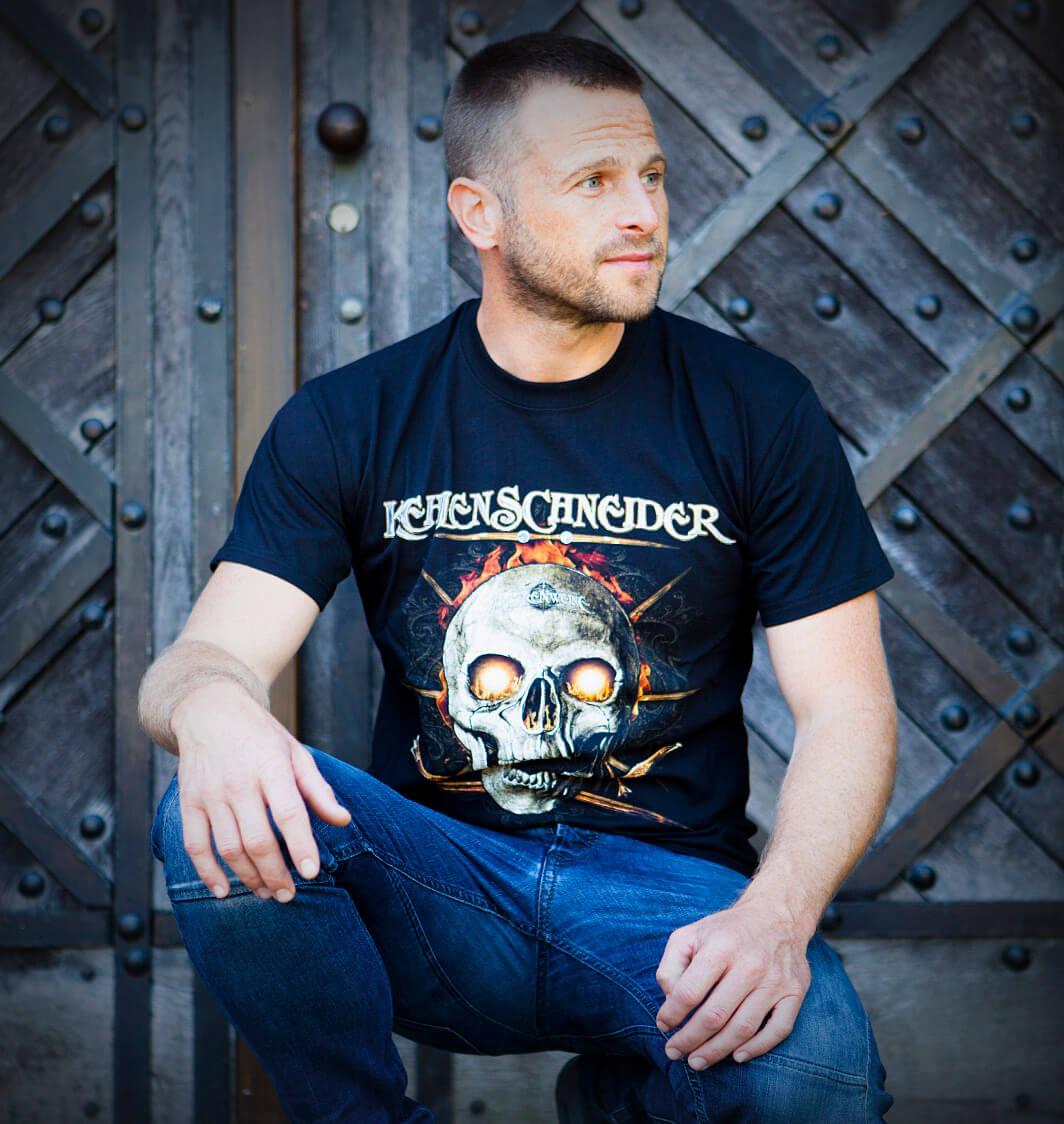 T-Shirt Kehlenschneider in Gr. M