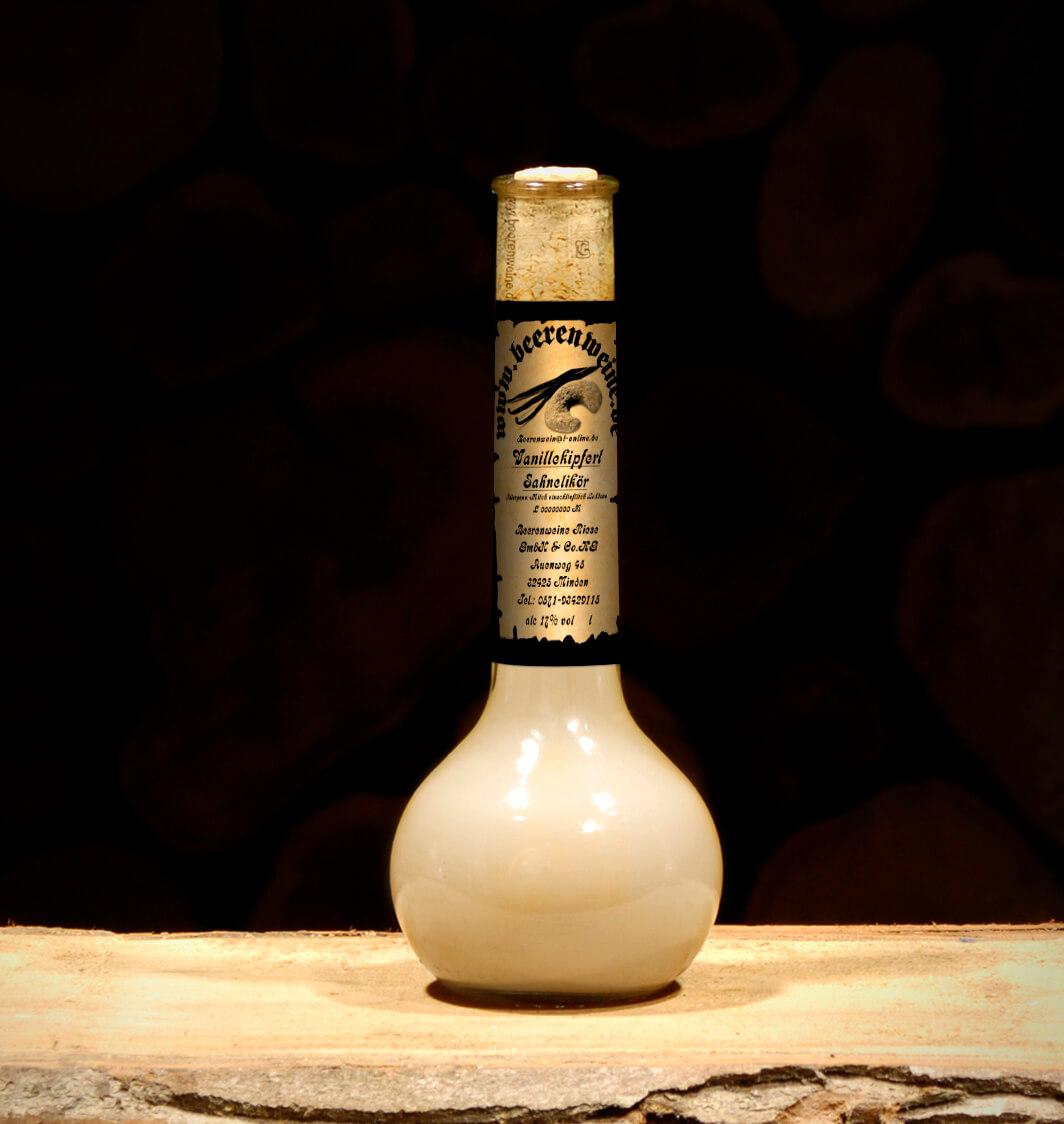 Vanillekipferl Sahnelikör 0,2 Liter Elixierflasche