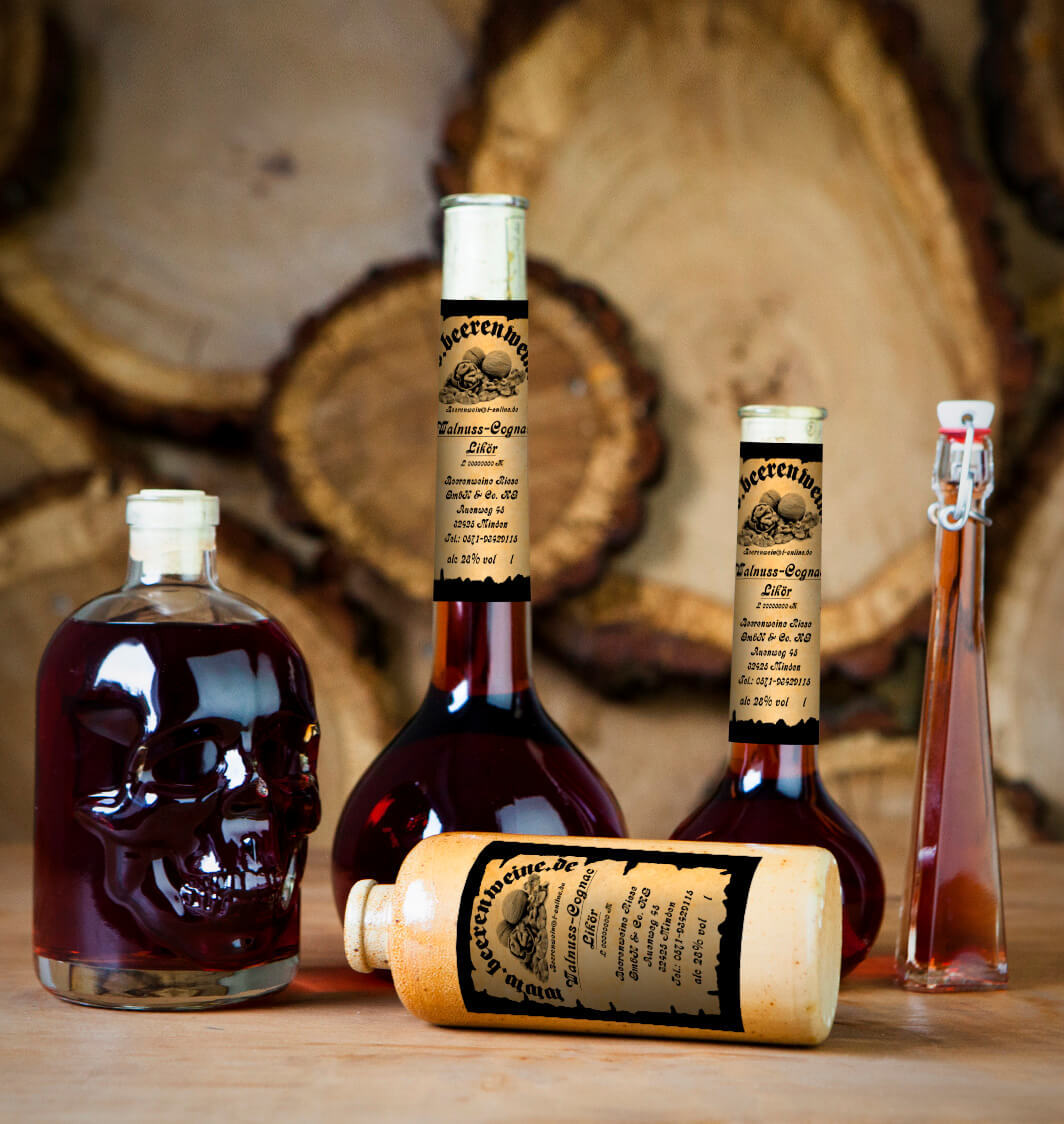 Walnuss-Cognac Likör